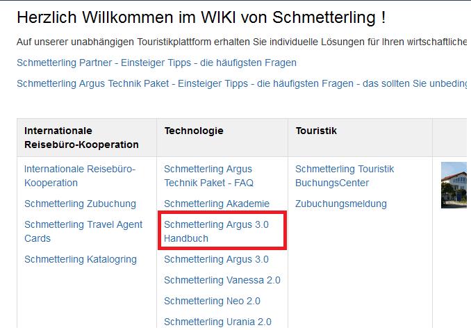 Schmetterling Argus 3.0 Handbuch