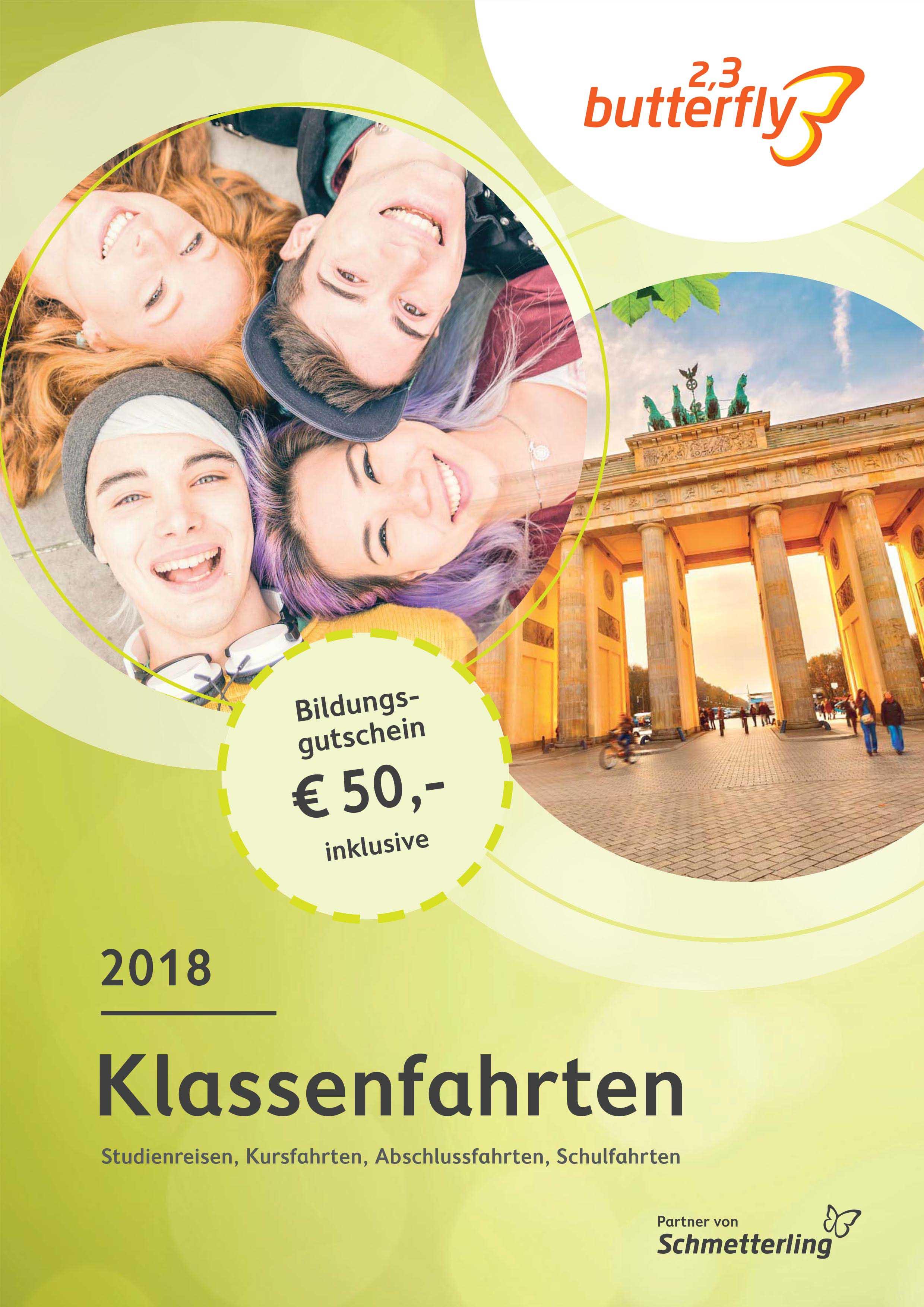 Der neue Klassenfahrten-Katalog 2018 ist da!